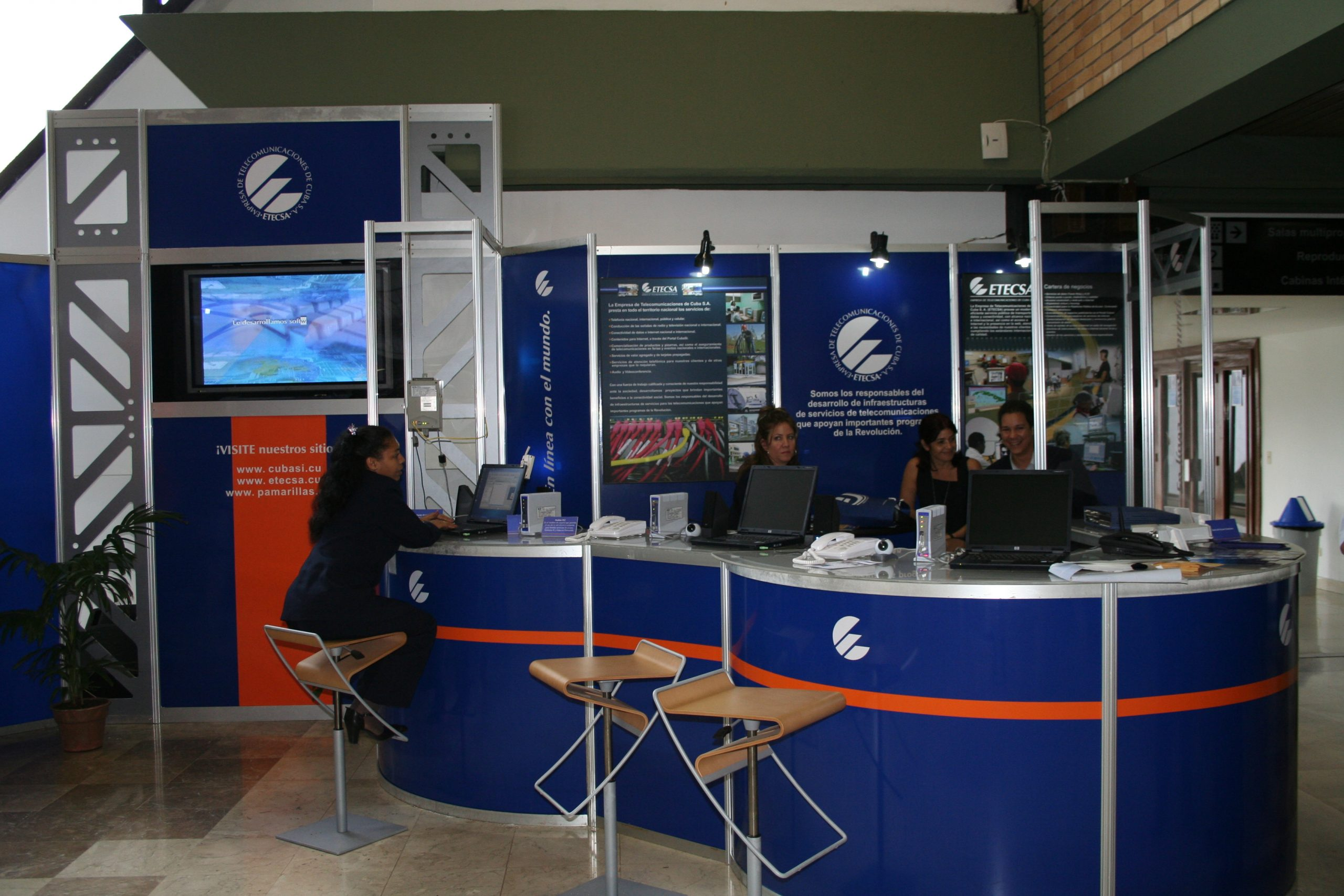 2007 Stand of the Cuban service provider ETECSA