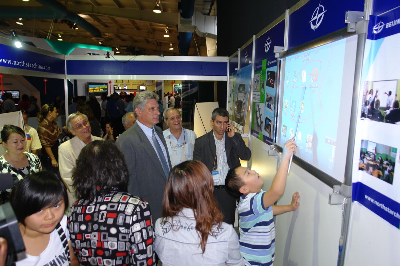 2011 Actual Presidente de Cuba, Miguel Díaz-Canel, entonces Ministro de Educación Superior