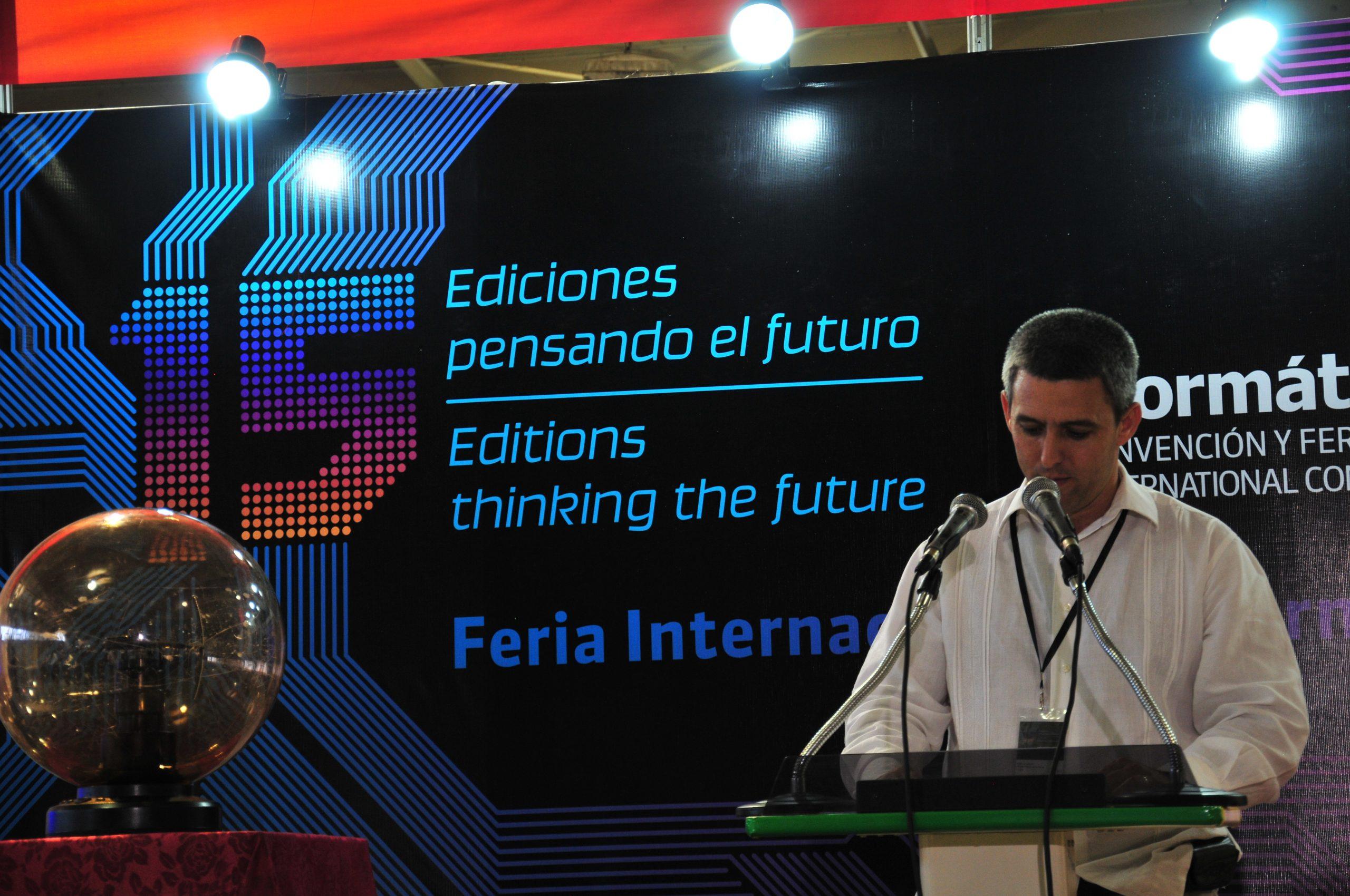 2013 Current Vice Prime Minister of Cuba, Jorge Luis Perdomo Di-Lella, then Vice Minister of Mincom inaugurating the Fair