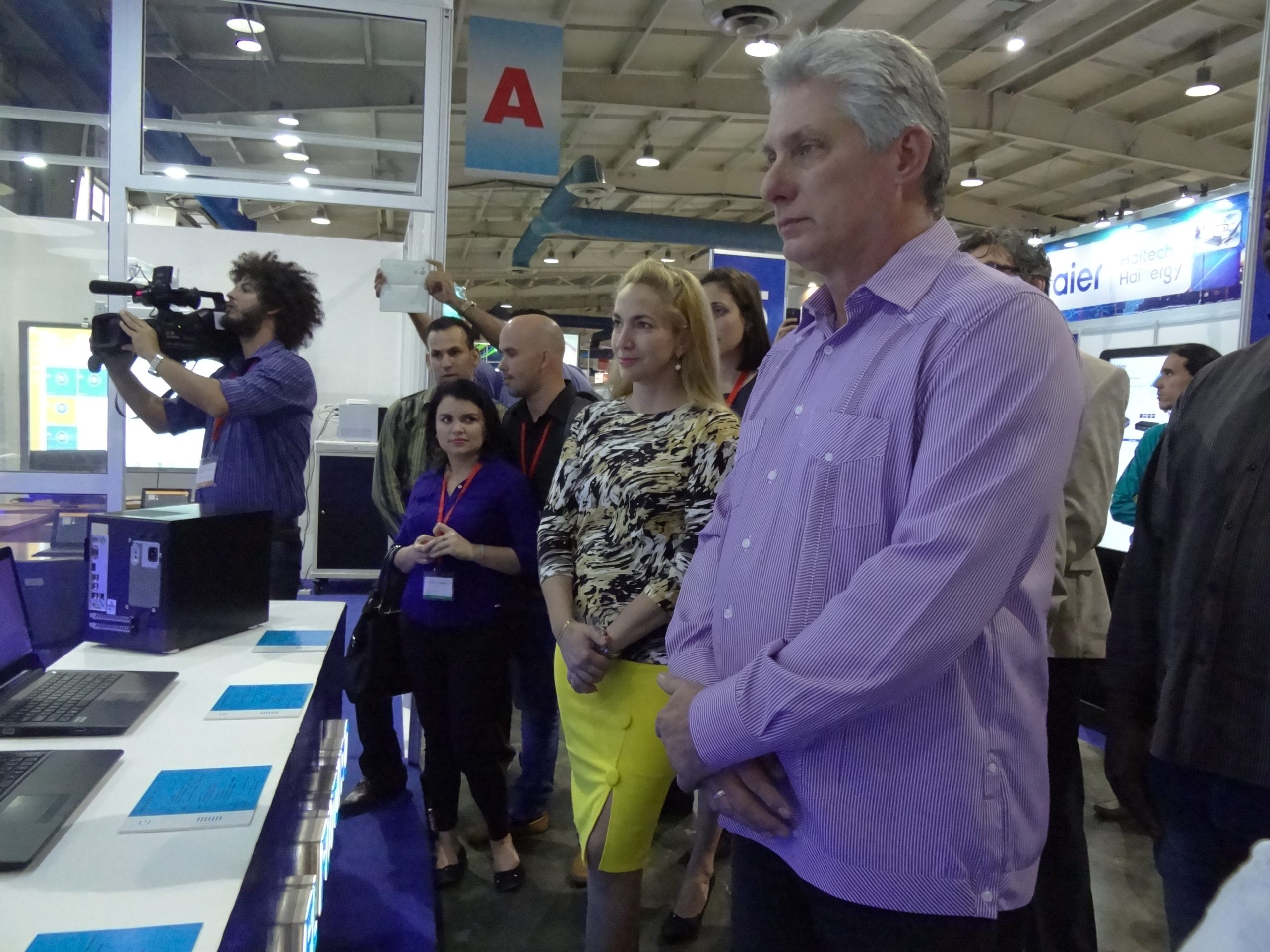 2018 Miguel Diaz-Canel, President of the Republic of Cuba, visits the Fair
