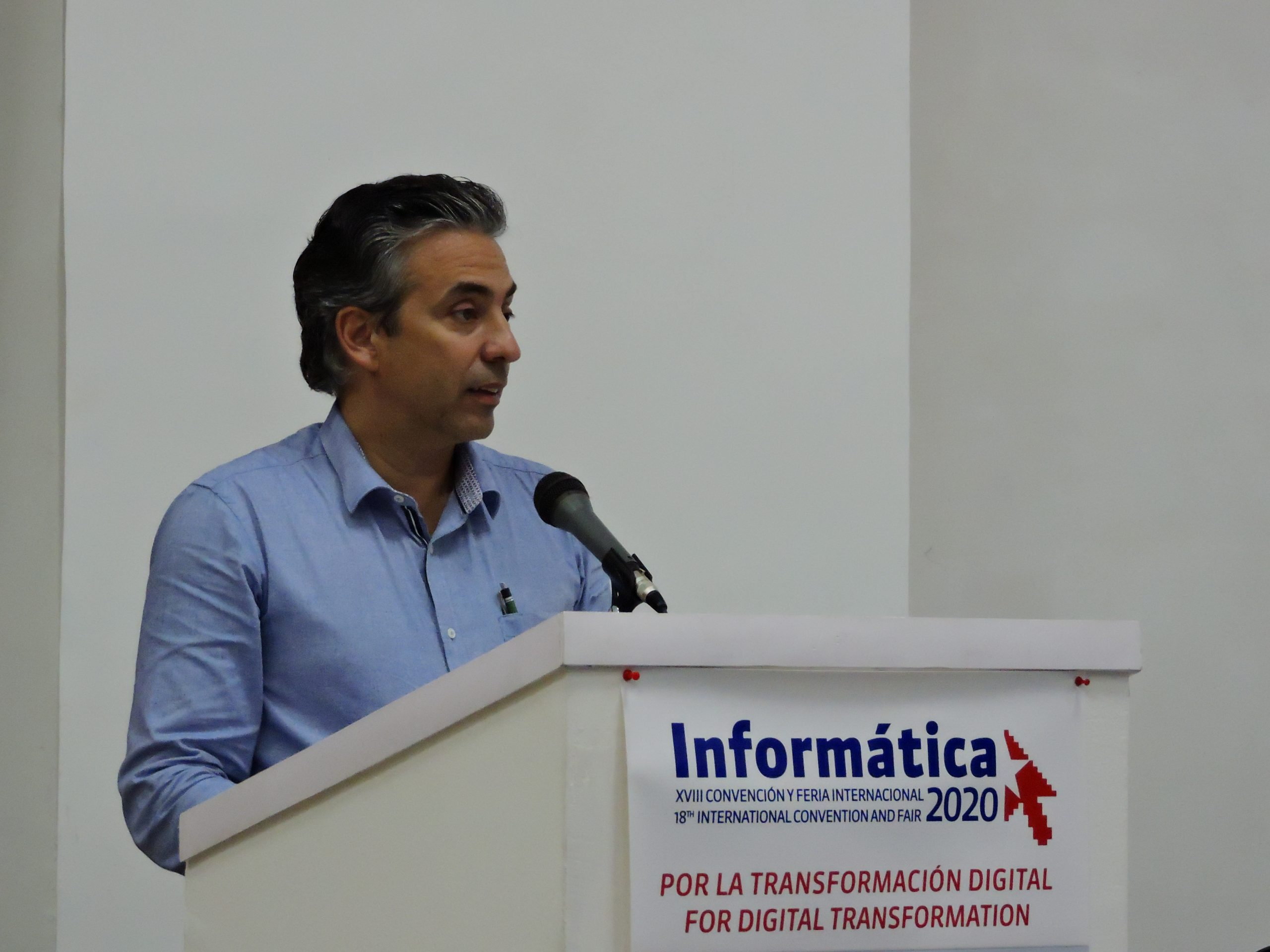 2020 Call for INFORMATICA 2020 made by the Cuban First Deputy Minister of Communications, Wilfredo González
