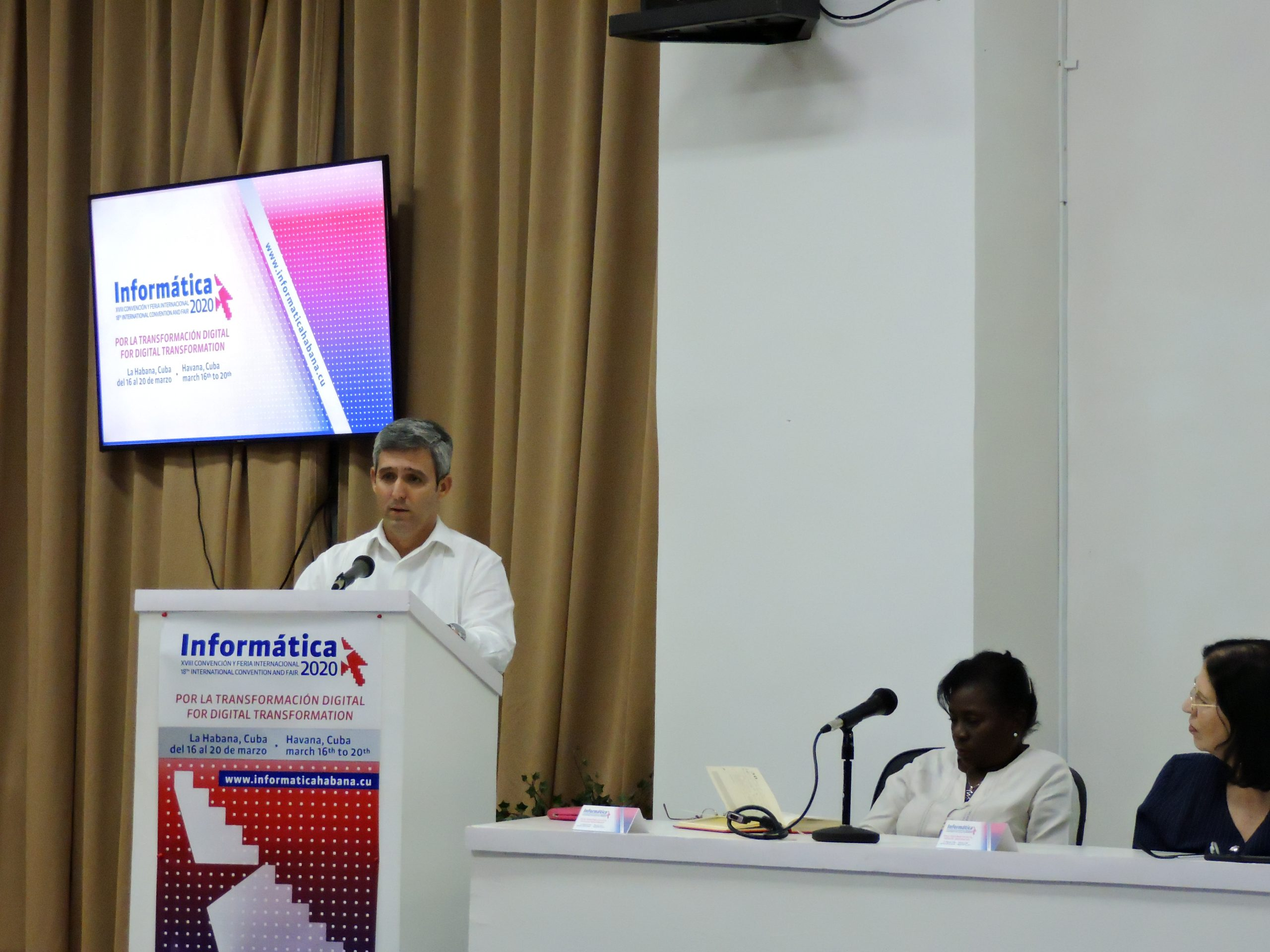 2020 Official speech of the Vice Prime Minister of Cuba, then Minister of Communications, Jorge Luis Perdomo Di-Lella, at the opening of INFORMÁTICA 2020